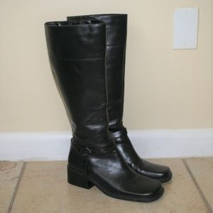 1990s Square Toe Knee High Boots Size 8